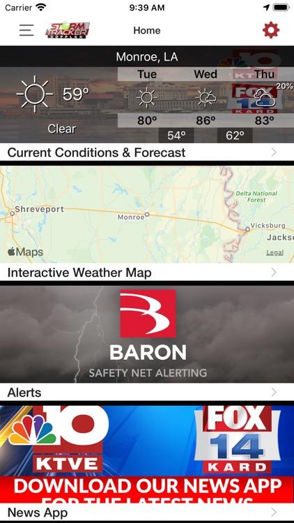 KTVE/KARD Weather screenshot-4