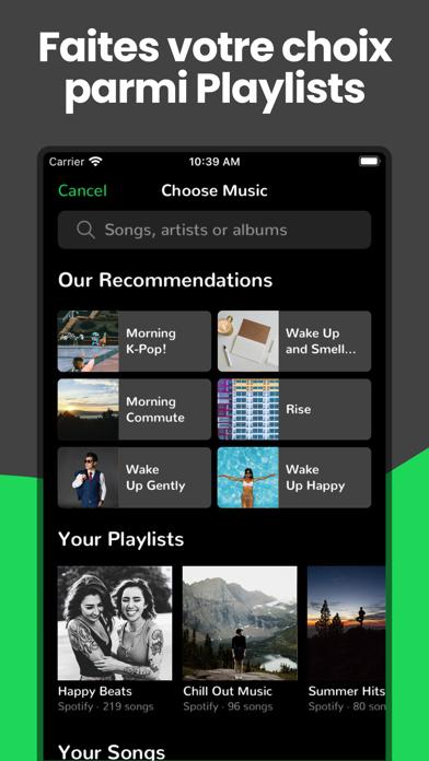 Alarme pour Spotify: Alarmify