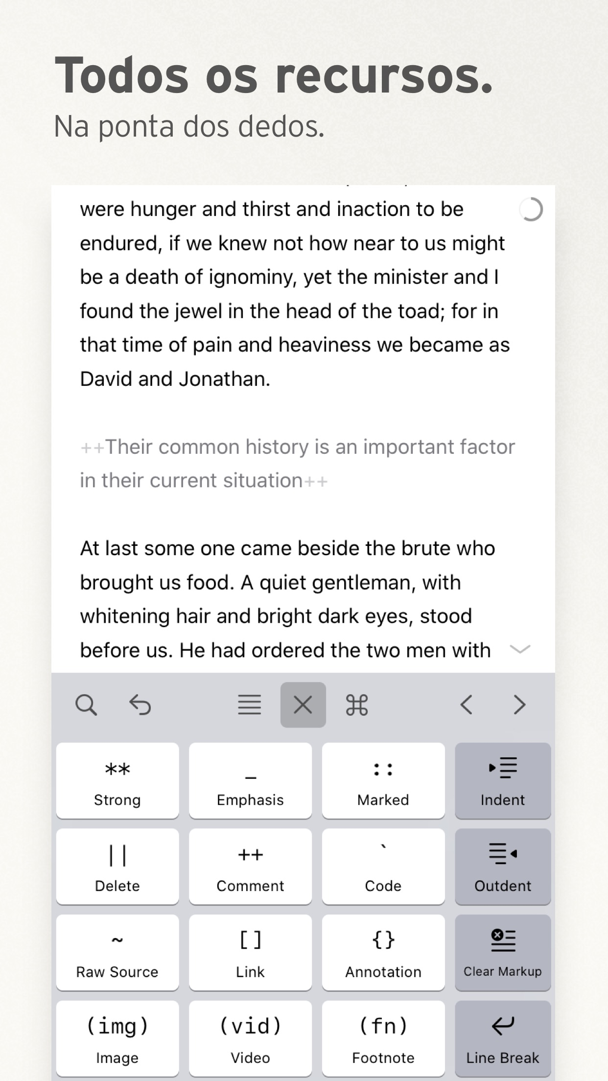 Screenshot do app Ulysses
