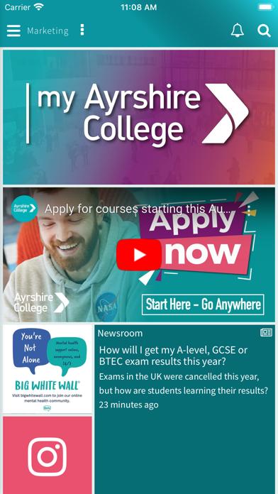 My Ayrshire College screenshot 4