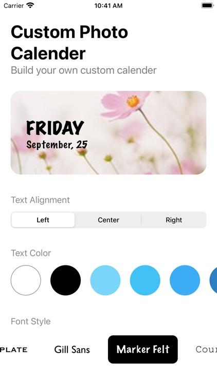 Color Photo Calendar Widget screenshot-6