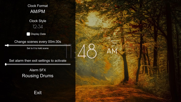 Autumn Clock HD screenshot-3