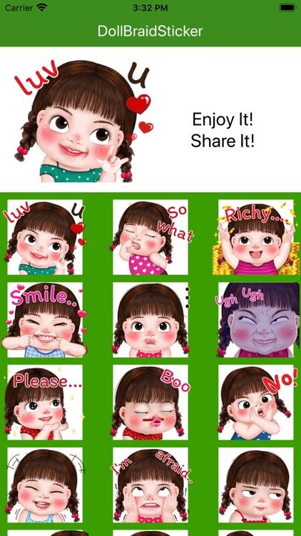 Doll Braid Sticker