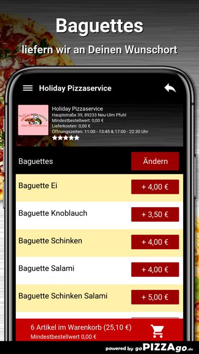 Holiday Pizza Neu-Ulm Pfuhl screenshot 2