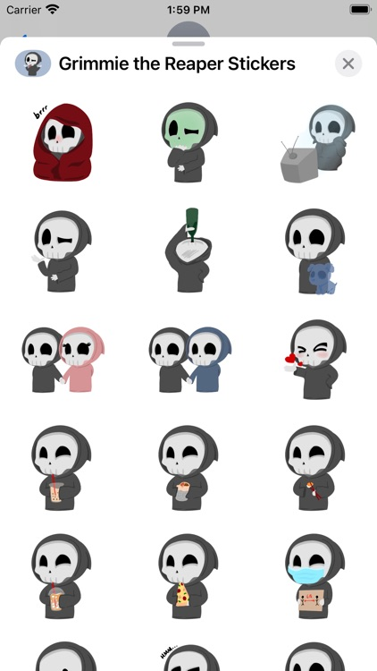 Grimmie the Reaper Stickers