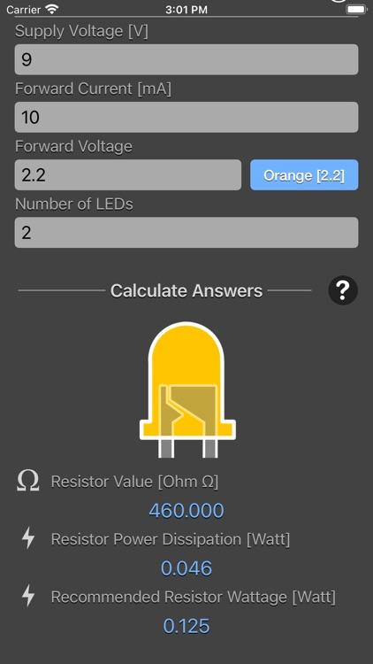 LED Resistor Calculator Plus screenshot-5