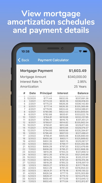 Mortgage Pal - Loan Calculator screenshot-5