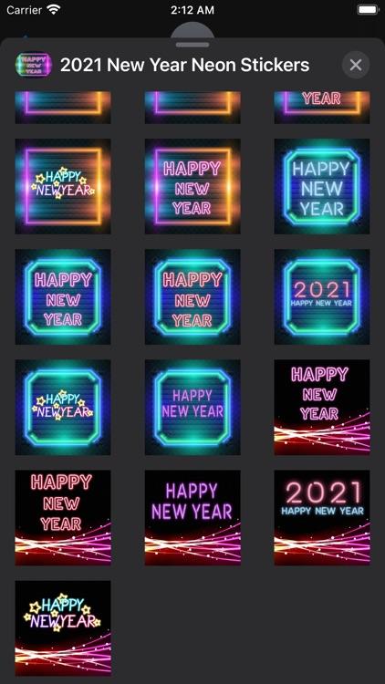 2021 New Year Neon Stickers screenshot-3