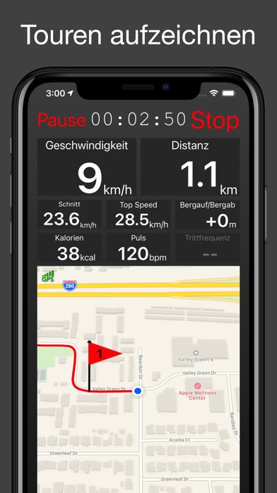 Fitmeter Bike - Fahrrad Tacho iphone bilder