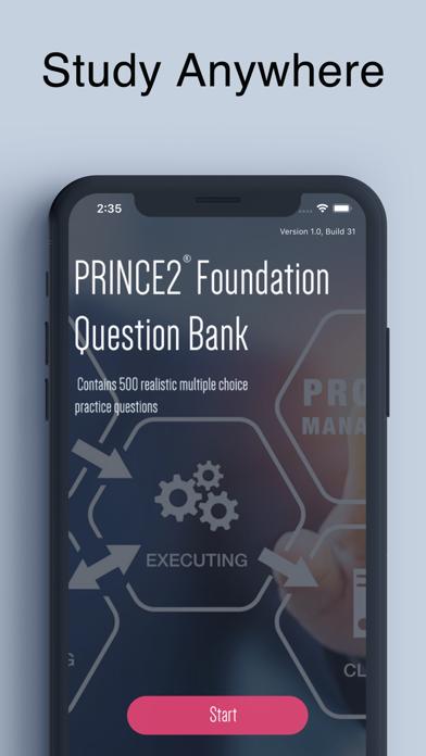 PRINCE2 Foundation Exam screenshot 1