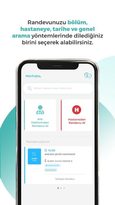MHRS iphone ekran görüntüleri