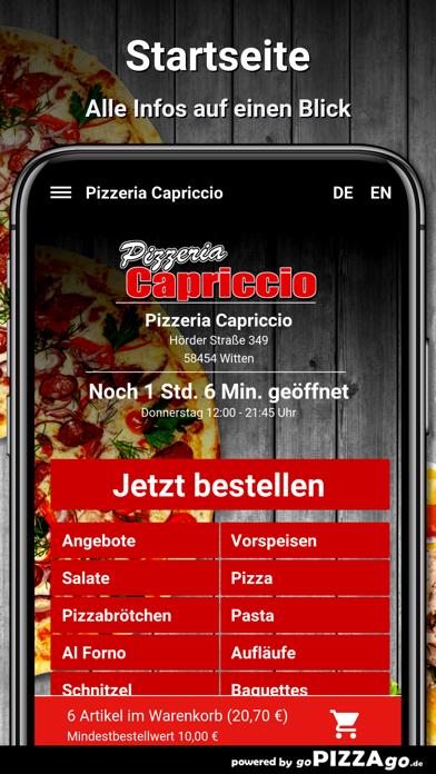 Pizzeria Capriccio Witten screenshot 2