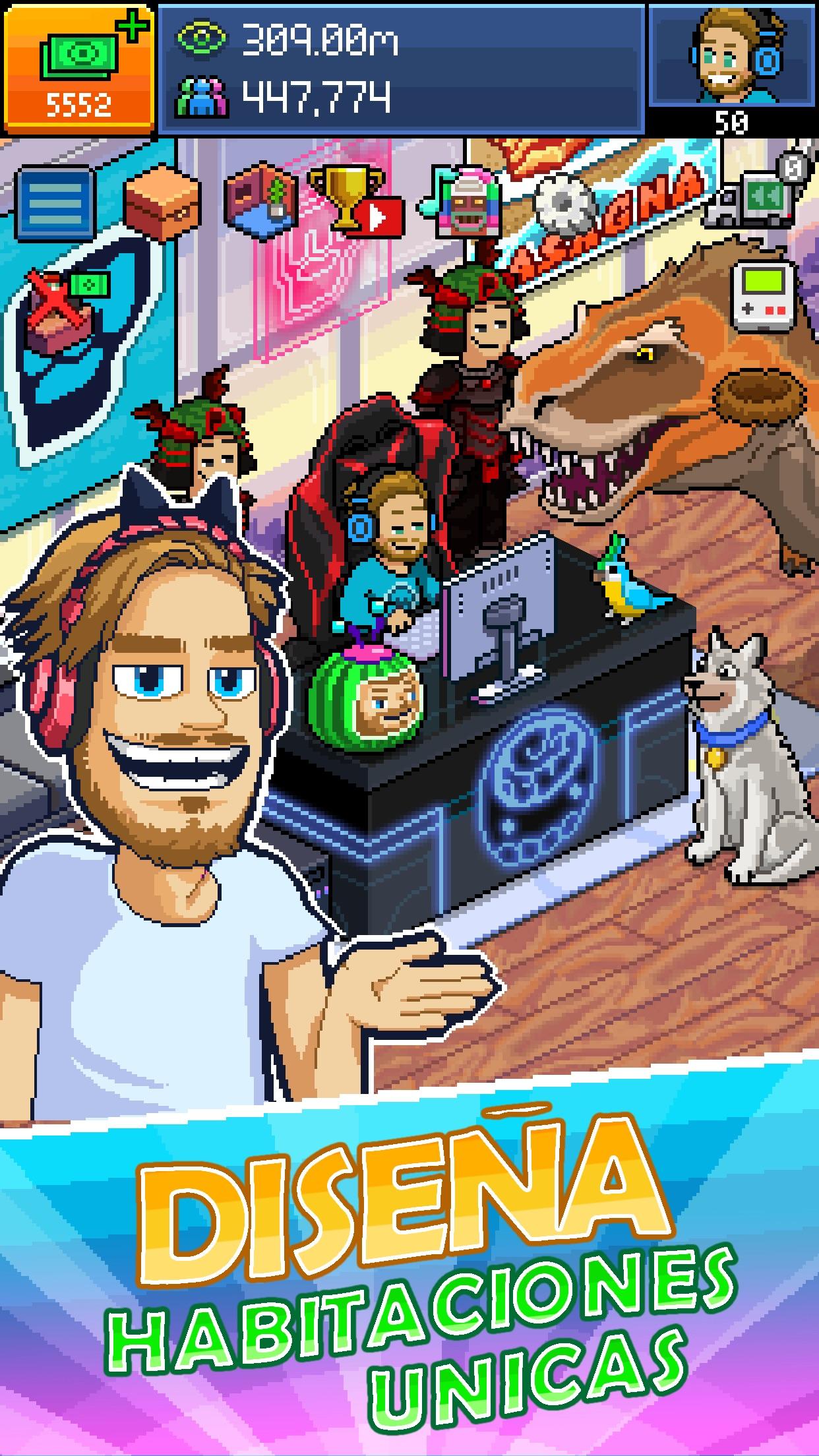 PewDiePie Tuber Simulator Game Screenshot
