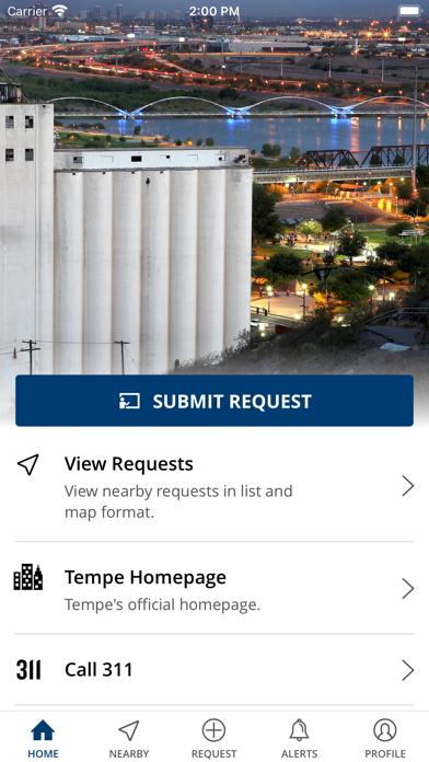 Tempe 311 AppScreenshot of 1