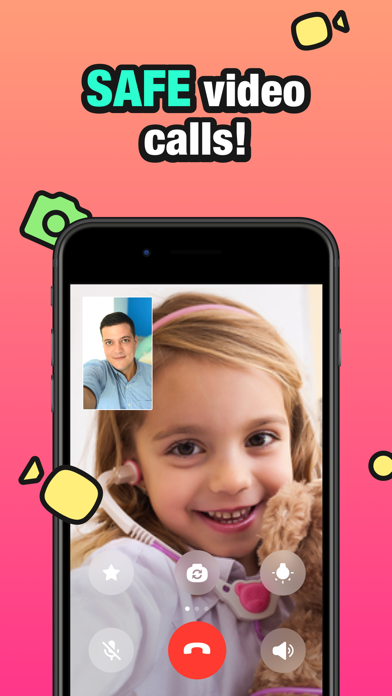 JusTalk Kids - 安全なビデオチャットのおすすめ画像1