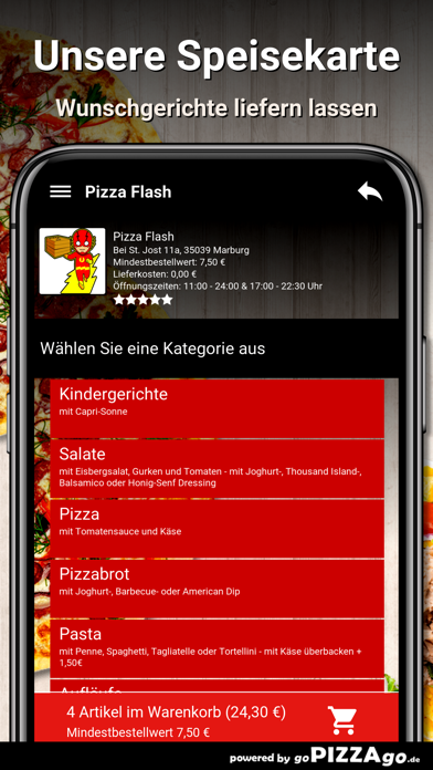 Pizza Flash Marburg screenshot 4