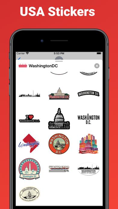 Washington D.C. - USA stickers screenshot 2