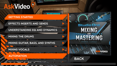 Screenshot of Mixing Course for StudioOne5 App