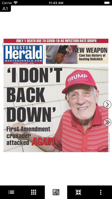 Boston Herald E-Edition Screenshot