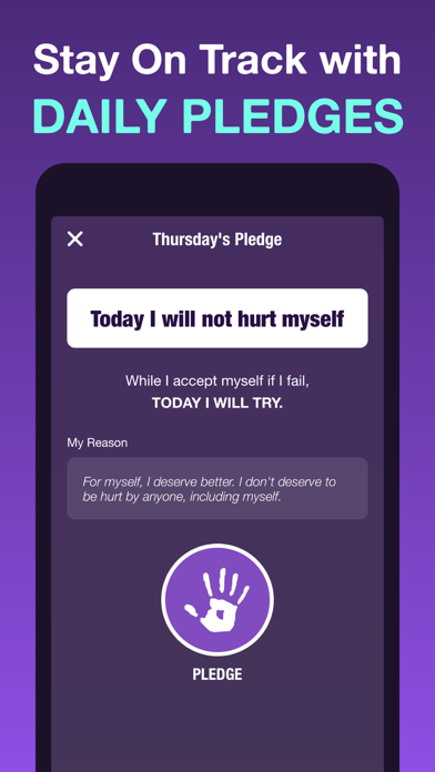 Screenshot of Self-Harm Tracker + Counter App