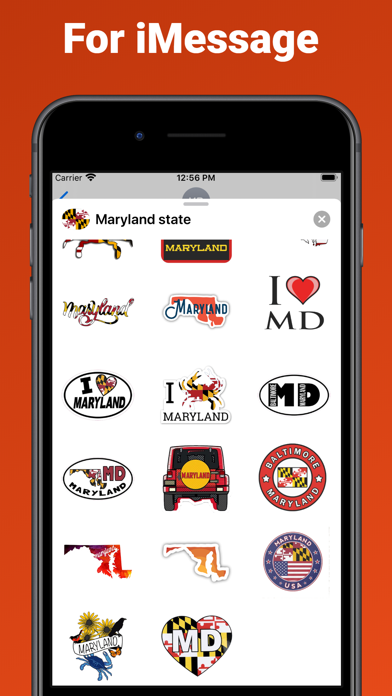 Maryland state - USA emoji screenshot 3