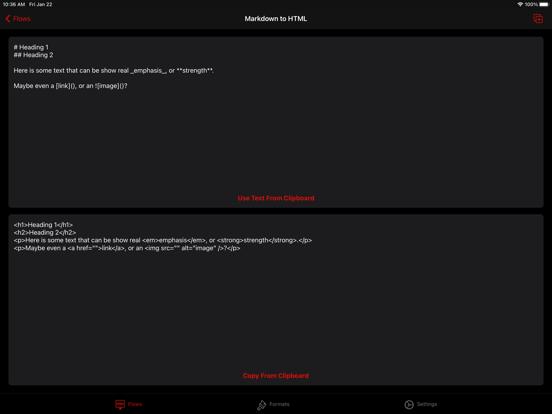 Text Case Screenshots