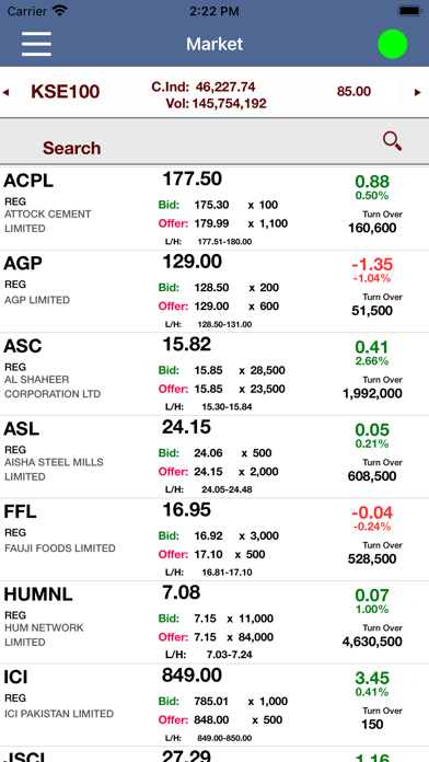 AHL Trading Screenshot