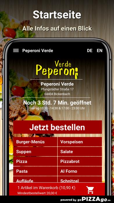 Peperoni Verde Bickenbach screenshot 2