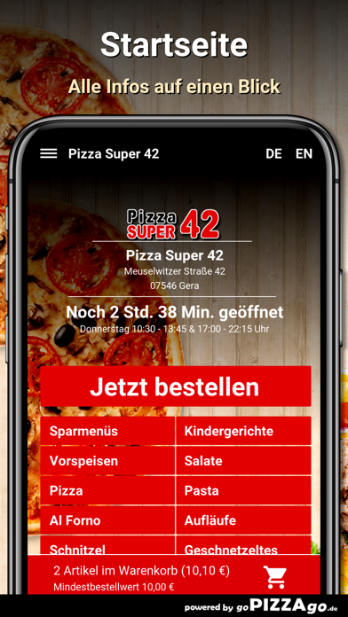 Pizza Super 42 Gera screenshot 2