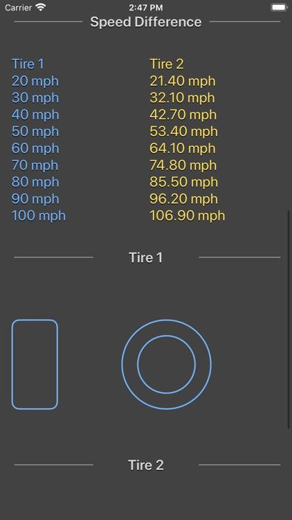 Tire Size Calculator Plus screenshot-7
