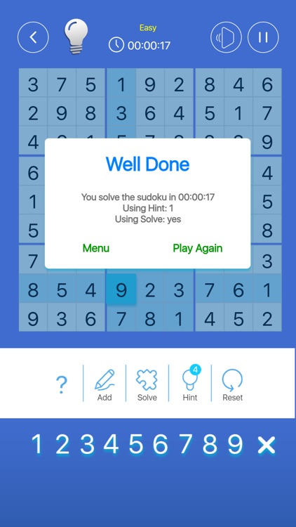Simple Sudoku Puzzle Game screenshot-6