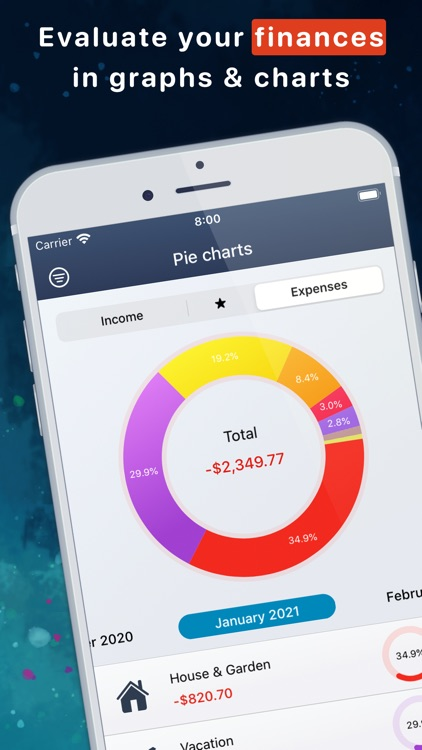 MoneyStats - Expense Tracker screenshot-0