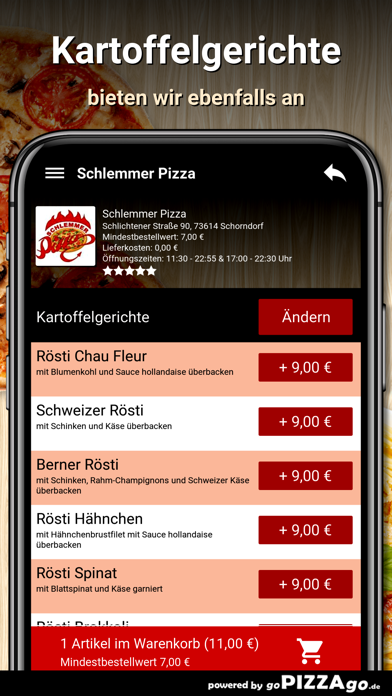 Schlemmer Pizza Schorndorf go screenshot 6
