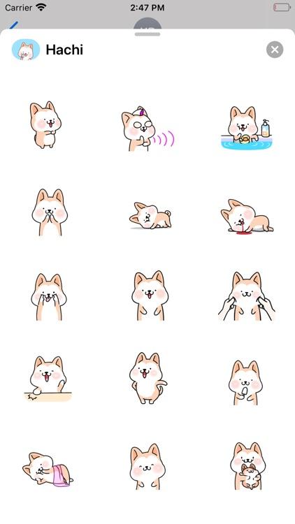 Hachi:Akita Dog Animated Emoji screenshot-3