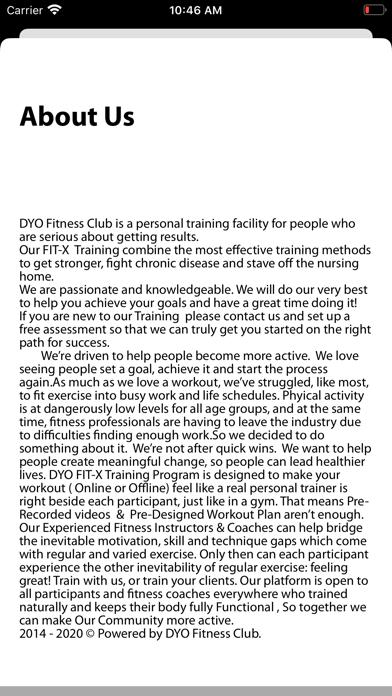 FITX - DYO Fitness Club screenshot 3