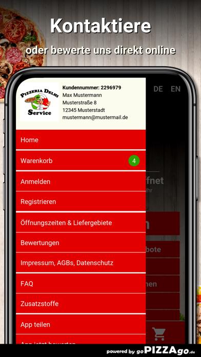 Pizzeria Delhi Service Leipzig screenshot 3