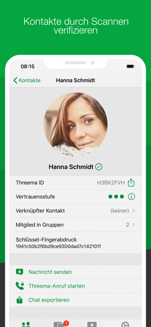 ‎Threema. Sicherer Messenger Screenshot