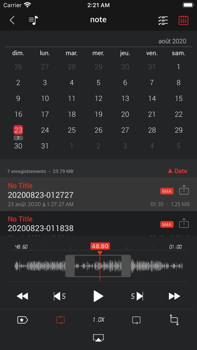 Screenshot #2 pour AVR X PRO - Enregistreur vocal
