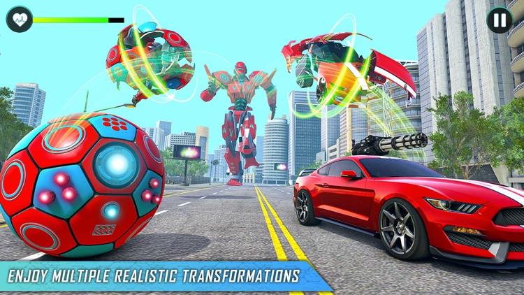 Football Robot Games Transform screenshot-4