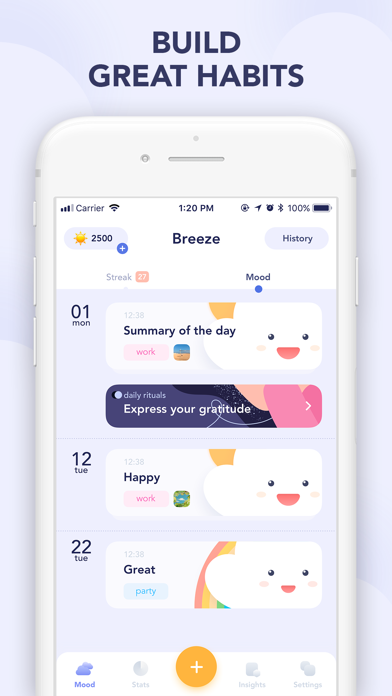 Breeze: mood tracker, diaryのおすすめ画像6