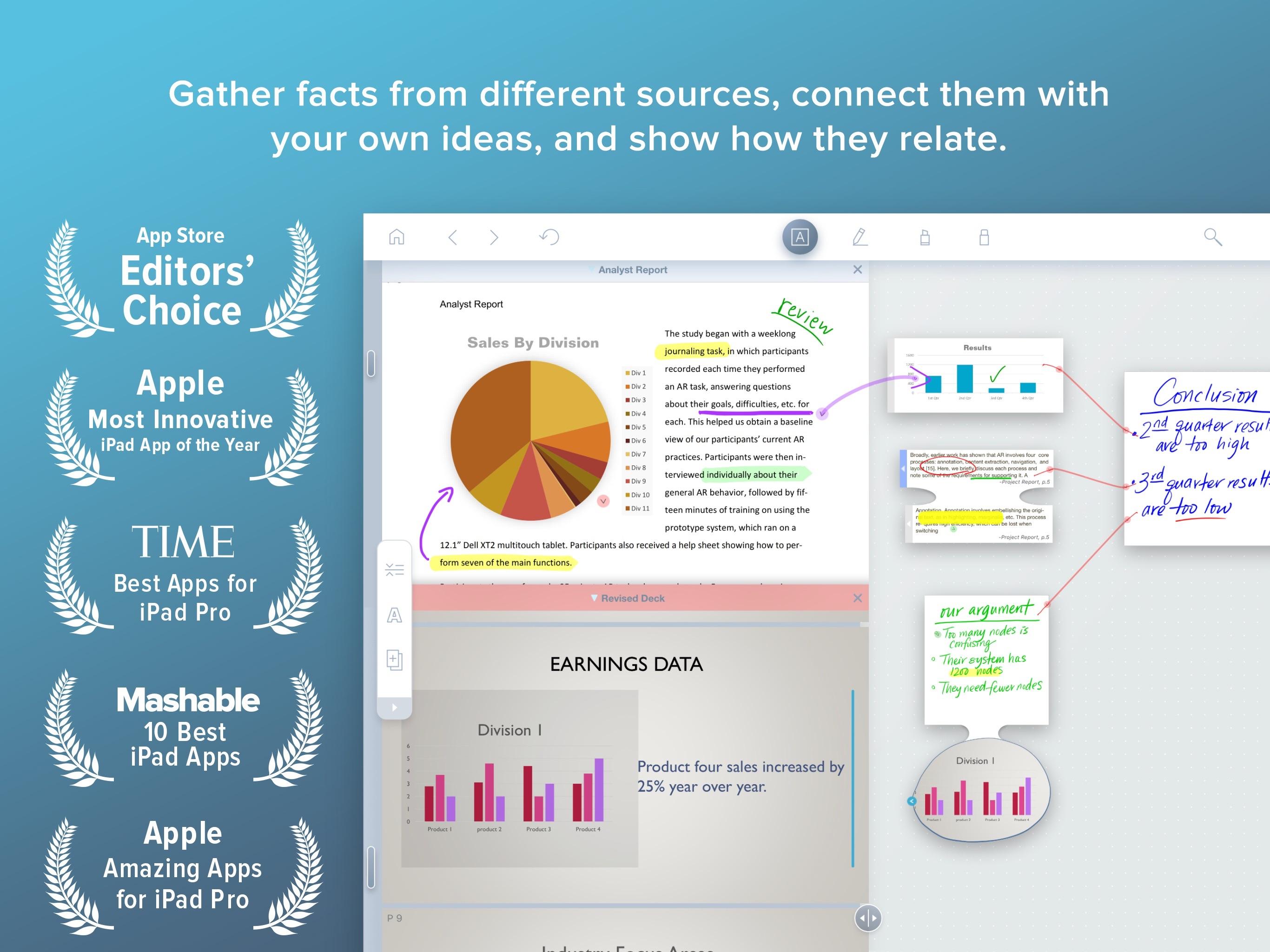 Screenshot do app LiquidText