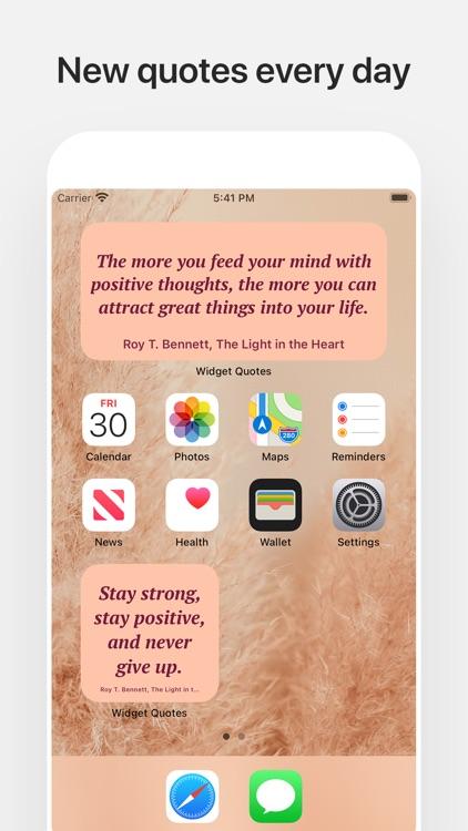 Widget Quotes screenshot-4