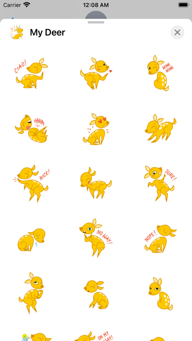 My Deer Sticker Packのおすすめ画像1