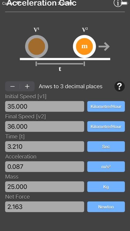 Acceleration Calculator Plus screenshot-6