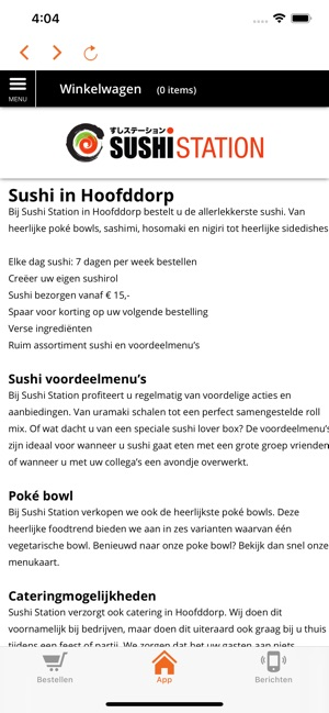 Sushi Station Hoofddorp – Find on the map and call to book a table.