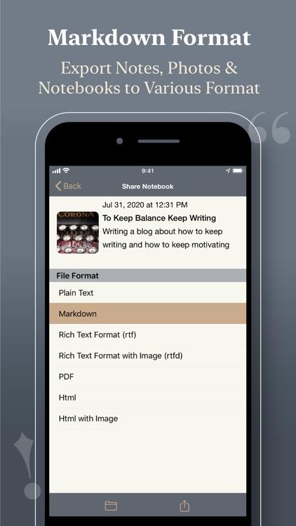 Notewrap - Book & Blog Writer screenshot-4