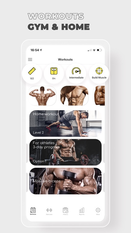 Fitness: Workout for Gym Home screenshot-0