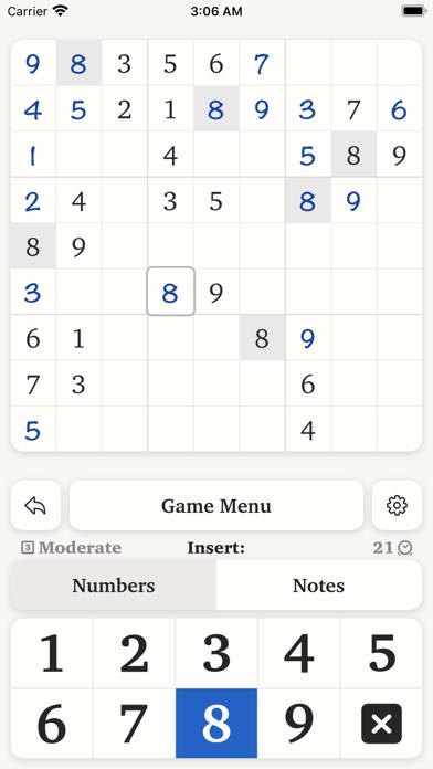 Pro:Sudoku Screenshot