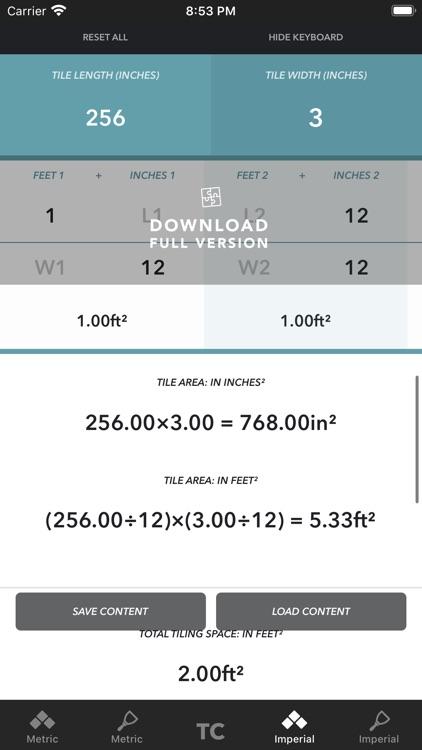 Tile Calculator 2020 LITE screenshot-5