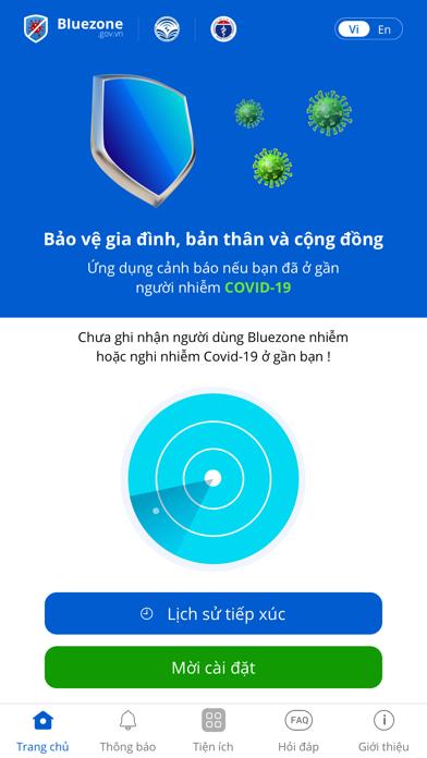 Bluezone - Phát hiện tiếp xúcのおすすめ画像1